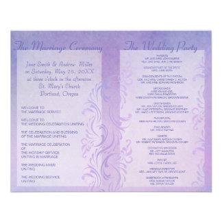 Wedding programs - Plum Flyer