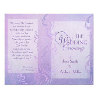 Wedding programs - Purple 11.5 Cm X 14 Cm Flyer