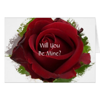 Wedding Proposal Card Will You Marry Me Rose