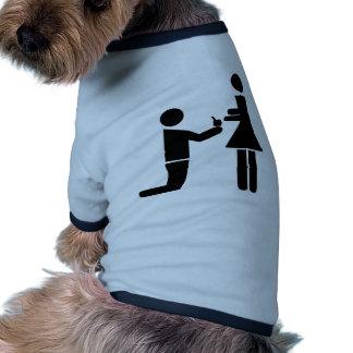 Wedding proposal doggie tshirt