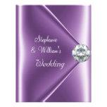 Wedding Purple Mauve Diamond Jewel Custom Announcements