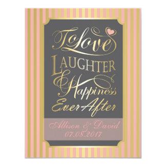 Wedding quote design, with custom letters 11 cm x 14 cm invitation card
