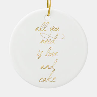 wedding quote, gold, love, romance, romantic gifts christmas ornament