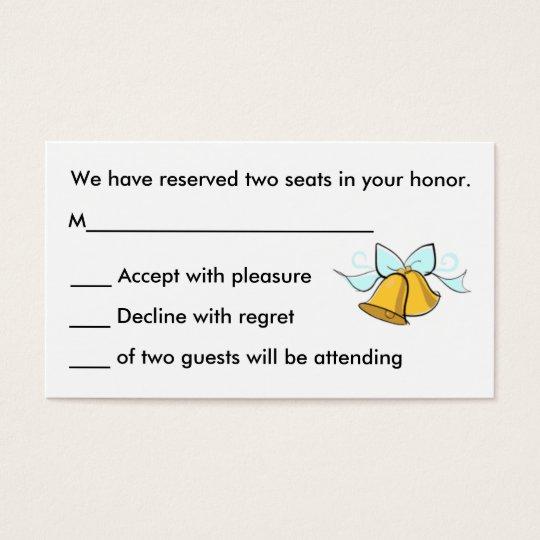 Wedding R.S.V.P. Cards