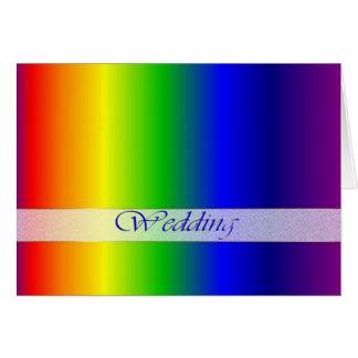 Wedding Rainbow Colors Greeting Card