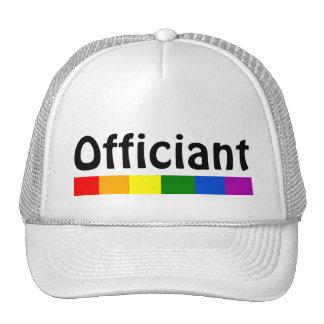 Wedding Rainbow Flag Banner Officiant Cap