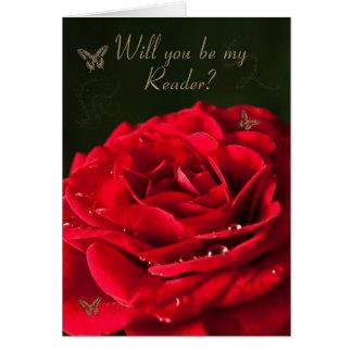 Wedding Reader request/invitation Greeting Card