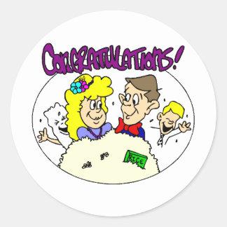 Wedding Reception 28 Round Sticker