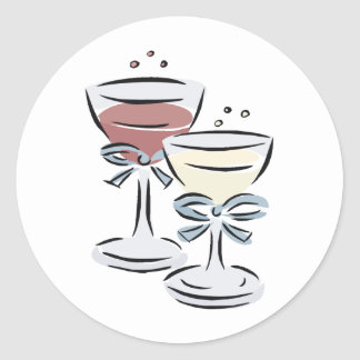 Wedding Reception 47 Round Sticker