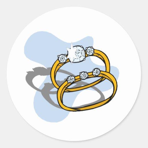 Wedding Reception 4 Round Sticker