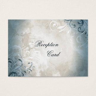 Wedding Reception Card Elegant Vintage Foliage