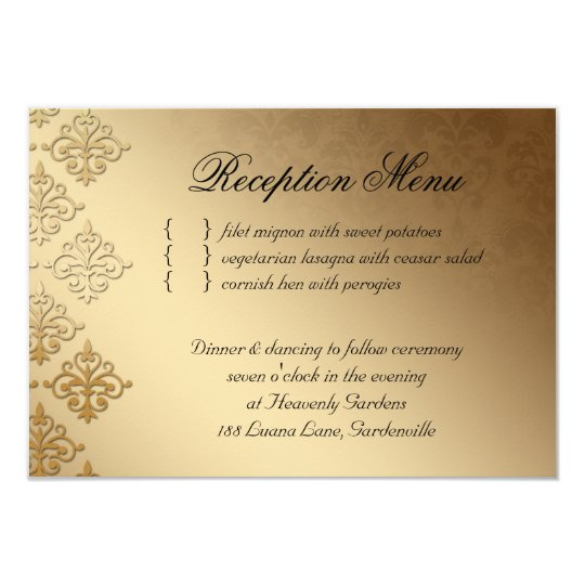 Wedding Reception Card Indian Damask Baby Pink
