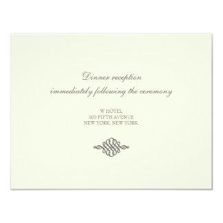 Wedding Reception Card // The Elegance Collection 11 Cm X 14 Cm Invitation Card