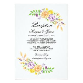 Wedding Reception Cards Floral Details Insert