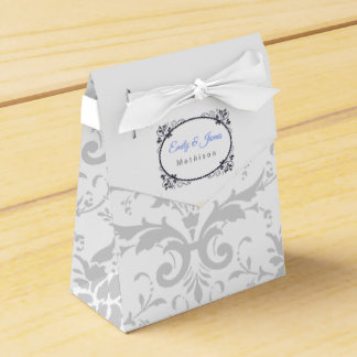 Wedding Reception Favor Boxes Silver Coronation