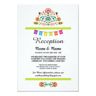 Wedding Reception Fiesta Cards Mexican Inserts