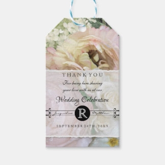 Wedding Reception Gift Tags French Flower Market