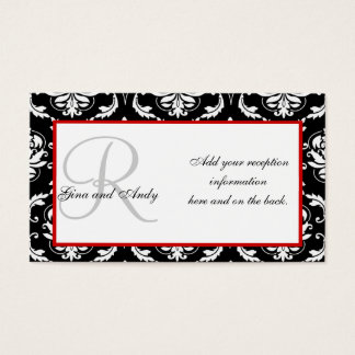 Wedding Reception Invitation Insert Cards