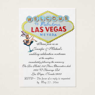 Wedding Reception Invitation Las Vegas Showgirl