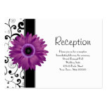 Wedding Reception Purple Gerbera Daisy w/ Scroll Pack Of Chubby Business Cards