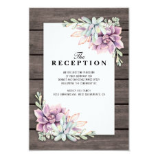 Wedding Reception Rustic Succulent Floral