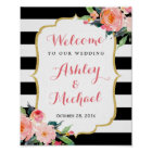 Wedding Reception Sign Watercolor Botanical Floral