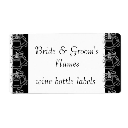 Wedding Reception wine bottle labels Bridal Shower