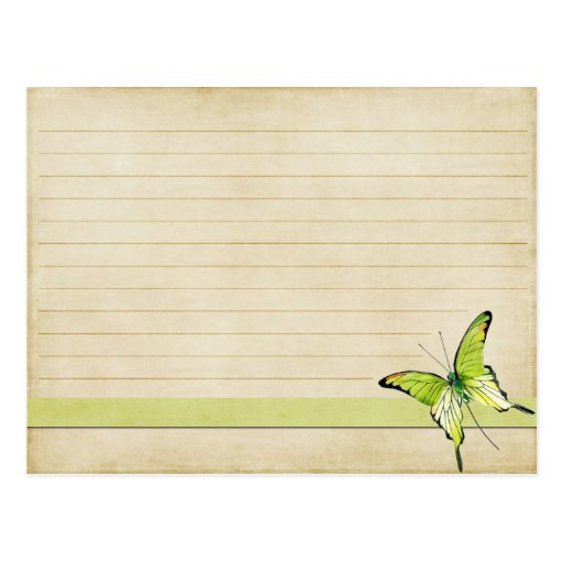 6 Etl Business Requirements Specification Template Reyri: Wedding Recipe Card Vintage Green Butterfly Postcard