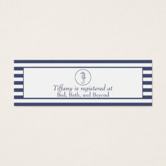 Wedding Registry Card | Nautical Seahorse