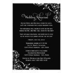 Wedding Rehearsal and Dinner Invitations | Black
