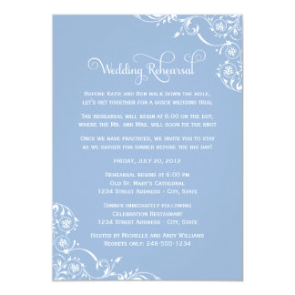 Wedding Rehearsal and Dinner Invitations | Blue