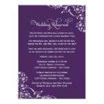 Wedding Rehearsal | Dark Purple Scroll 13 Cm X 18 Cm Invitation Card