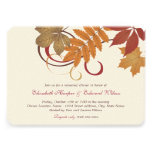 Wedding Rehearsal Dinner | Autumn Fall Theme Personalized Announcement