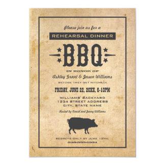 Wedding Rehearsal Dinner | Backyard BBQ Theme 13 Cm X 18 Cm Invitation Card