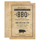 Wedding Rehearsal Dinner | Backyard BBQ Theme Card