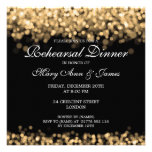 Wedding Rehearsal Dinner Gold Lights Personalized Invitations