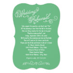 Wedding Rehearsal Dinner | Practice Makes Perfect 13 Cm X 18 Cm Invitation Card