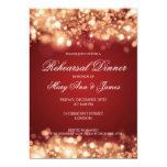 Wedding Rehearsal Dinner Sparkling Lights Gold 13 Cm X 18 Cm Invitation Card