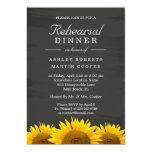 Wedding Rehearsal Dinner Sunflowers Chalkboard 13 Cm X 18 Cm Invitation Card