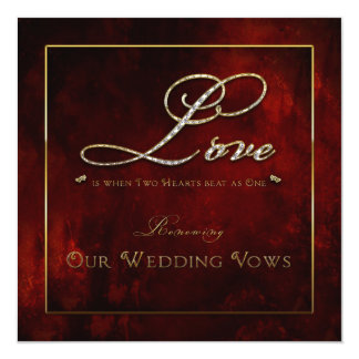 Wedding Renewal Invitation - Love - Two Hearts Custom Announcements