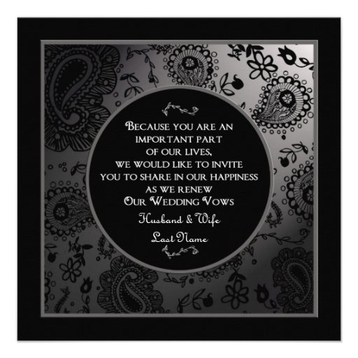 Wedding Renewal Invitations Invitation