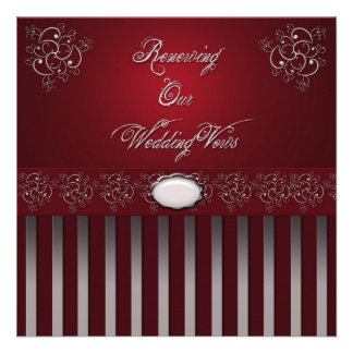Wedding RENEWAL VOWS CEREMONY INVITATIONS Personalized Announcements