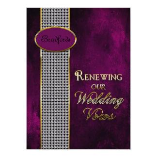 Wedding Renewing Vows - Invitation Deep Purple Personalized Invitation