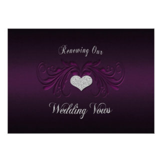 Wedding Renewing Vows Invitation - Purple Passion Invitation
