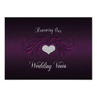 Wedding Renewing Vows Invitation - Purple Passion