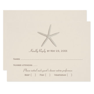Wedding Reply Card 2 | Neutral Starfish