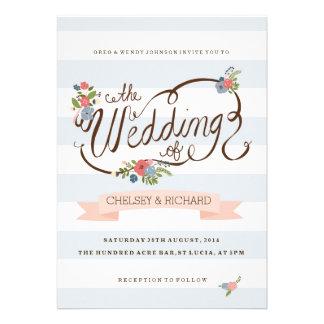 Wedding Ribbon - Blue Custom Invite