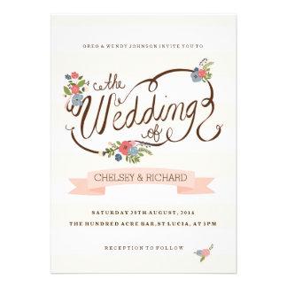 Wedding Ribbon Personalized Invitations