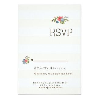 Wedding Ribbon RSVP 9 Cm X 13 Cm Invitation Card