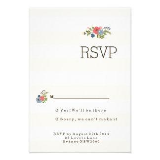 Wedding Ribbon RSVP Announcements